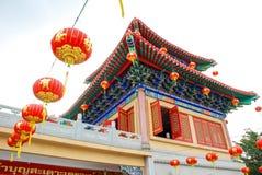 LA THAÏLANDE - 27 NOVEMBRE 2015 : Temple traditionnel et d'architecture de style chinois, Nonthaburi en septembre 2012 chez Wat M Images stock