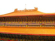 La Thaïlande - 27 novembre 2015 : Temple traditionnel et d'architecture de style chinois, Nonthaburi en septembre 2012 chez Wat M Images libres de droits