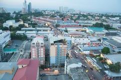 La THAÏLANDE, PATTAYA - 2 novembre 2015 : Vue supérieure de ville de Pattaya Photos stock