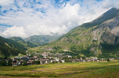 La Thuile, Aosta valley Stock Image