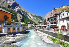 La Thuile resort on summer, Italy Royalty Free Stock Photos