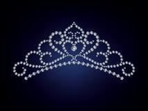 La tiara del diamante stock de ilustración
