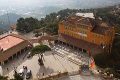 La Tibidabo小山的Masia旅馆 库存图片