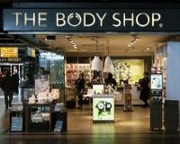 La tienda de los cosméticos del body shop foto de archivo libre de regalías