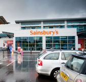La tienda de Sainsbury en Manchester, Reino Unido Imagen de archivo libre de regalías