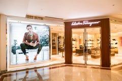 La tienda de Salvatore Ferragamo en KLCC Kuala Lumpur Imagen de archivo libre de regalías