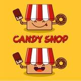 La tienda del caramelo Fotografía de archivo libre de regalías