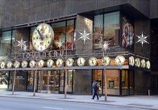 La tienda del reloj de Tourneau en la 57.a calle en Manhattan Nueva York Fotografía de archivo