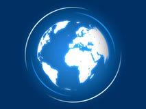 La tierra azul Foto de archivo libre de regalías
