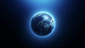 La tierra de giro en espacio ilustración del vector