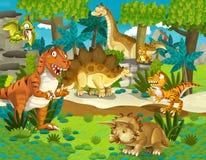 La tierra del dinosaurio - ejemplo para los niños Imagen de archivo libre de regalías