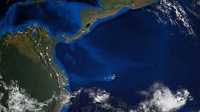 la tierra del planeta 3d con algunas nubes, diversos continentes, generados por ordenador rinde el fondo libre illustration