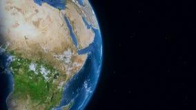La tierra del planeta gira en espacio profundo libre illustration