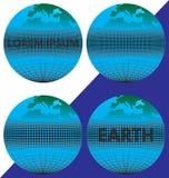 La tierra (el globo) con el texto Imagen de archivo libre de regalías
