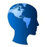 La tierra en símbolo del vector de la mente Imagen de archivo libre de regalías