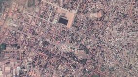 La tierra enfoca adentro enfoque fuera de Bissau Guinea-Bissau almacen de metraje de vídeo