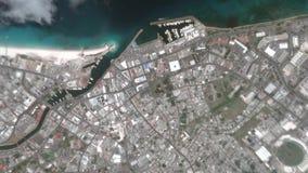 La tierra enfoca adentro enfoque fuera de Bridgetown Barbados almacen de video