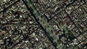 La tierra enfoca adentro enfoque fuera de Buenos Aires la Argentina almacen de video