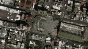 La tierra enfoca adentro enfoque fuera de Caracas Venezuela metrajes