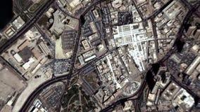 La tierra enfoca adentro enfoque fuera de la ciudad de Kuwait libre illustration
