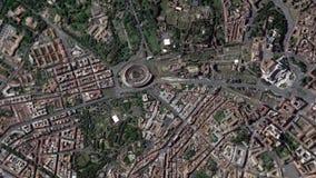 La tierra enfoca adentro enfoque fuera de Colosseum Roma Italia almacen de video
