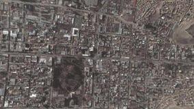 La tierra enfoca adentro enfoque fuera de Kabul Afganistán stock de ilustración