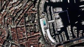 La tierra enfoca adentro enfoque fuera de Mónaco ilustración del vector