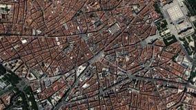 La tierra enfoca adentro enfoque fuera de Madrid España ilustración del vector