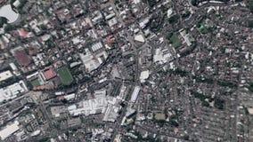 La tierra enfoca adentro enfoque fuera de San Salvador El Salvador almacen de metraje de vídeo