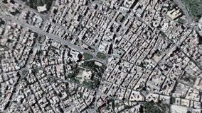 La tierra enfoca adentro enfoque fuera de Tr?poli Libia almacen de video