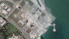 La tierra enfoca en el palacio presidencial Abu Dhabi UAE de los UAE de la salida del enfoque metrajes