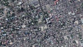 La tierra enfoca en enfoque fuera de príncipe portuario Haiti del au almacen de video