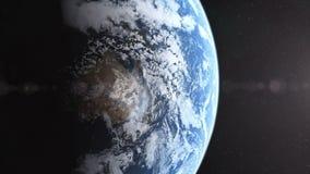 La tierra realista del planeta revela 4K ilustración del vector
