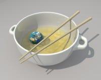 La tierra tiene gusto de la comida china Imagenes de archivo