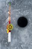 La tige pour la pêche d'hiver Image libre de droits