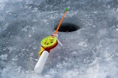 La tige pour la pêche d'hiver Photos stock