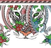 La tigre che consiste di un ornamento illustrazione di stock