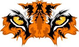 La tigre Eyes il grafico della mascotte Fotografie Stock Libere da Diritti