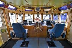 La timonerie d'un bateau-pompe Images libres de droits