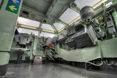 La timonerie d'un vaisseau de guerre intrépide Images stock