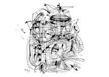 La tinta abstracta alinea el fondo del grunge libre illustration