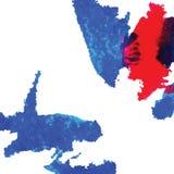 La tinta abstracta mancha vector Foto de archivo