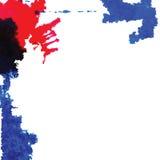 La tinta abstracta mancha vector Fotos de archivo