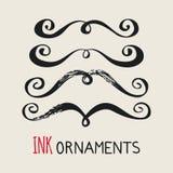 La tinta adorna los bigotes Foto de archivo libre de regalías