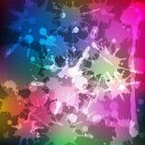 La tinta salpica Fondo coloreado arco iris de la mancha blanca /negra Ilustración del vector Fotos de archivo libres de regalías