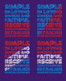 La tipografía de los gráficos goza Imagen de archivo