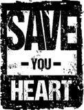La tipografía del vector le ahorra corazón Fotografía de archivo