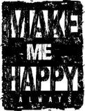 La tipografía del vector me hace feliz Fotografía de archivo libre de regalías