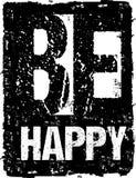 La tipografía del vector sea extracto feliz Foto de archivo libre de regalías