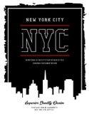 La tipografía del vector skylen Nueva York Fotografía de archivo libre de regalías